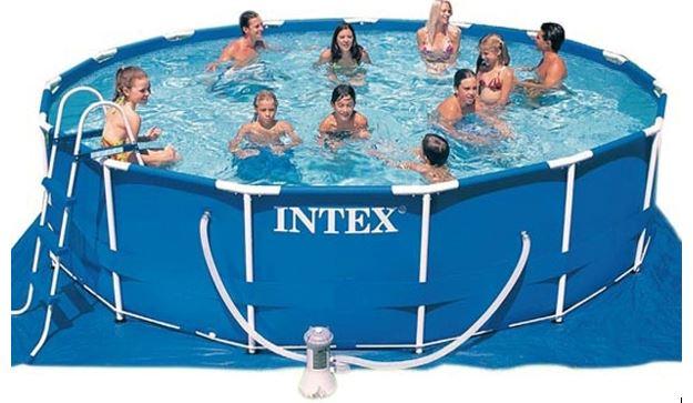 Intex zwembad met frame