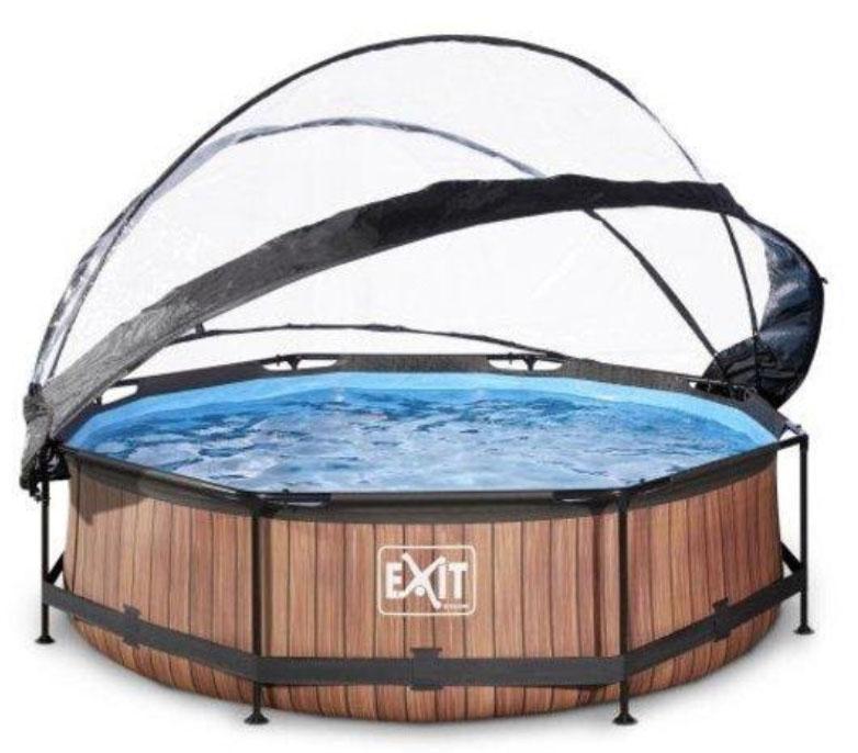 Exit zwembad met bedekking