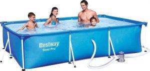 bestway frame zwembad 300 x 201 x 66cm inclusief pomp 2271